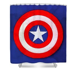 The Captain's Shield Shower Curtain