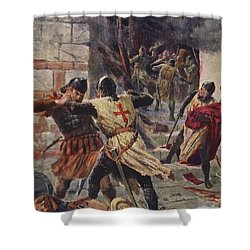 The Capture Of Constantinople Shower Curtain by John Harris Valda