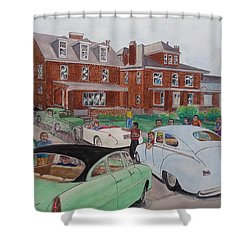 The Car Movers Of Phi Sigma Kappa Osu 43 E. 15th Ave Shower Curtain