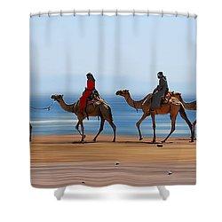 The Caravan Shower Curtain by Hannes Cmarits