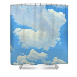 The Cardinal Shower Curtain by James W Johnson