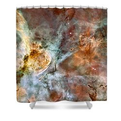 The Carina Nebula Shower Curtain by Nasa