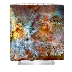 The Carina Nebula - Star Birth In The Extreme Shower Curtain