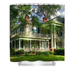A Southern Bell The Carlton Home Art Southern Antebellum Art Shower Curtain by Reid Callaway