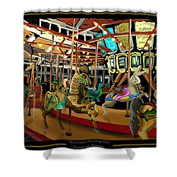 The Carousel At Coolidge Park - Chattanooga Landmark Series - #6 Shower Curtain