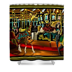 The Carousel At Coolidge Park Three - Chattanooga Landmark Series - # 8 Shower Curtain