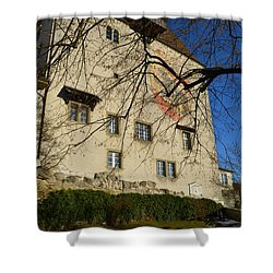 Shower Curtain featuring the photograph The Castle Greets A Sunny Day by Felicia Tica
