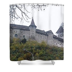 Shower Curtain featuring the photograph The Castle In Autumn by Felicia Tica