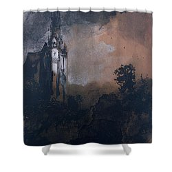 The Castle In The Moonlight  Shower Curtain by Victor Hugo