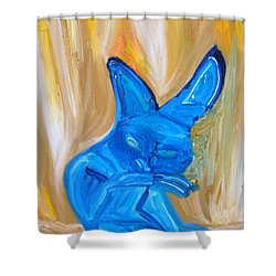 The Cat Camelion  Shower Curtain