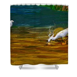 The Catch Shower Curtain by Angela A Stanton