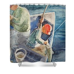 The Catch Shower Curtain by Marilyn Jacobson