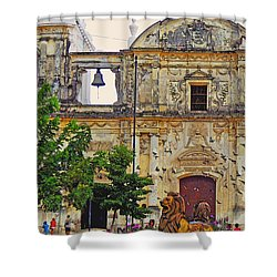 The Cathedral Of Leon Shower Curtain by Lydia Holly