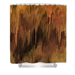 The Cave Shower Curtain by Michael Pickett