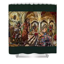 The Cave Of Ali Baba Shower Curtain by Reynold Jay