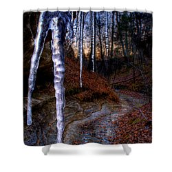 The Cave Of The Crystal Daggers Shower Curtain