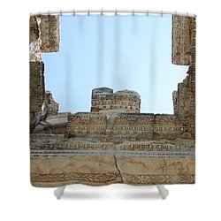 The Ceiling Of The Tetrapylon Aphrodisias Shower Curtain by Tracey Harrington-Simpson