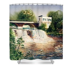The Chagrin Falls In Summer Shower Curtain
