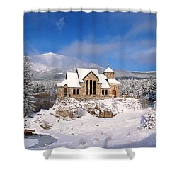 The Chapel On The Rock 3 Shower Curtain by Eric Glaser