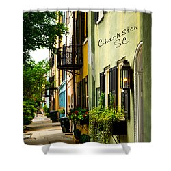 The Charm Of Charleston Shower Curtain by Karol Livote