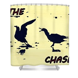 The Chase Shower Curtain by Pamela Hyde Wilson
