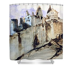 The Chateau Of Vianden Shower Curtain by Victor Hugo