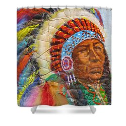The Chief Shower Curtain by Mohamed Hirji