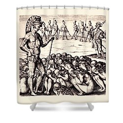 The Chieffe Applyed To By Women Shower Curtain by Peter Gumaer Ogden