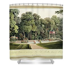 The Chinese Pavilion In The Laxenburg Shower Curtain by Laurenz Janscha
