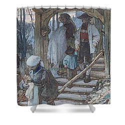 The Christening Gate In Lausanne, C.1861 Shower Curtain by Matthijs Maris