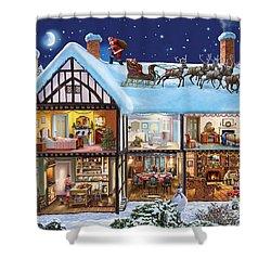 Christmas House Shower Curtain by Steve Crisp
