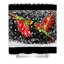 The Christmas Keets Shower Curtain by Jean Pacheco Ravinski