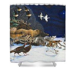 The Christmas Star Shower Curtain