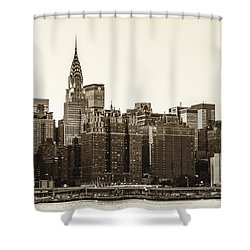 The Chrysler Building And New York City Skyline Shower Curtain by Vivienne Gucwa