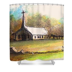 The Church Shower Curtain