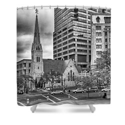 Shower Curtain featuring the photograph The Church by Howard Salmon