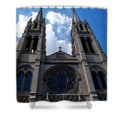 The Church Shower Curtain by Matt Harang