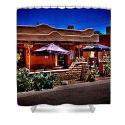 The Church Street Cafe - Albuquerque New Mexico Shower Curtain by David Patterson