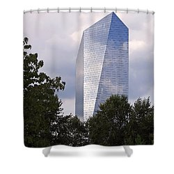 The Cira Centre Shower Curtain by Rona Black