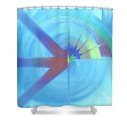 The Circular Abstract-2 Shower Curtain