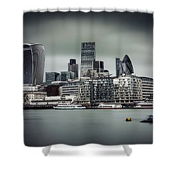 The City Of London Shower Curtain