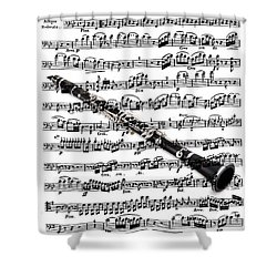 The Clarinet Shower Curtain