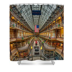 The Cleveland Arcade Vii Shower Curtain by Clarence Holmes