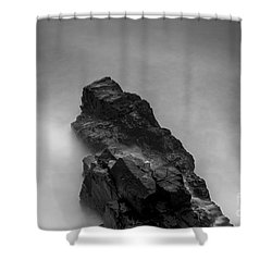 The Cliff Shower Curtain by Gunnar Orn Arnason