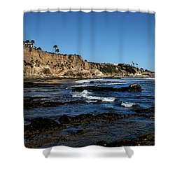 The Cliffs Of Pismo Beach Shower Curtain by Judy Vincent