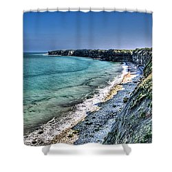 The Cliffs Of Pointe Du Hoc Shower Curtain