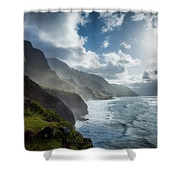 The Cliffs Of Kalalau Shower Curtain