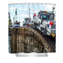 The Climbing Mule Of The Panama Canal Shower Curtain