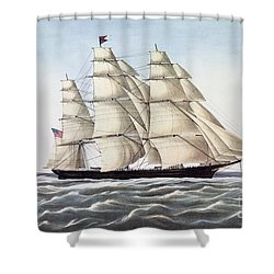 The Clipper Ship Flying Cloud Shower Curtain by Anonymous