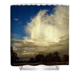 The Cloud - Horizontal Shower Curtain by Joyce Dickens